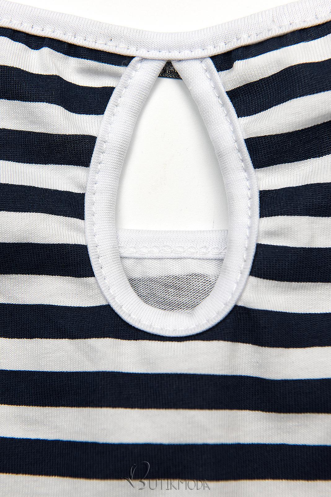 Freizeitkleid blau/weiß II.