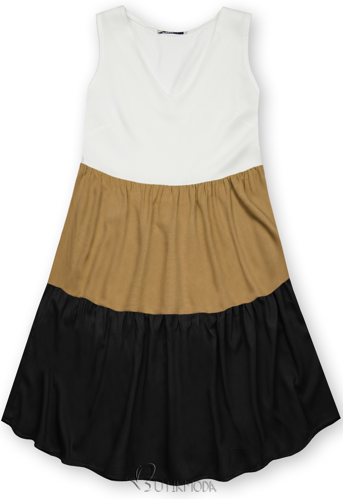 Kleid mit Color-Blocking-Optik braun/schwarz