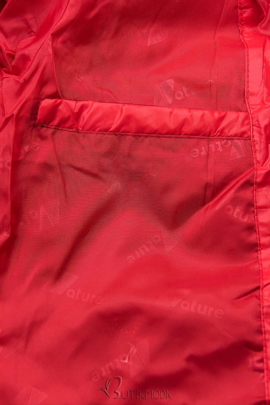 Leichte Übergangsjacke mit Kapuze rot