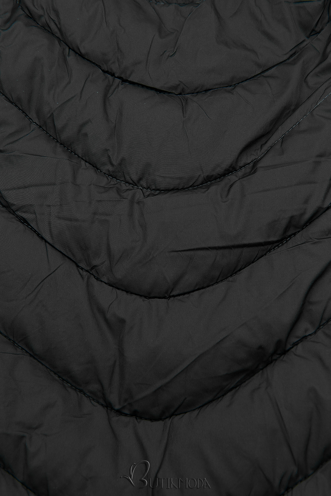 Winterjacke mit warmes Futter-Plüsch schwarz