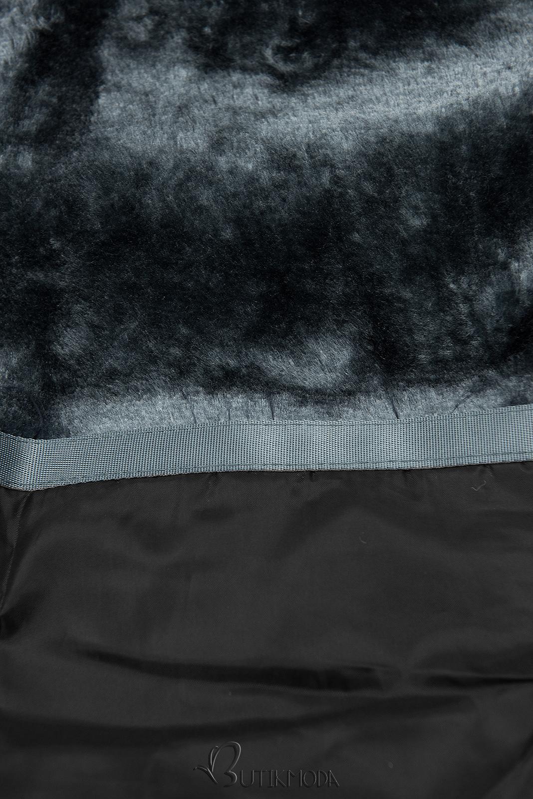 Gesteppte Winterjacke von LHD schwarz