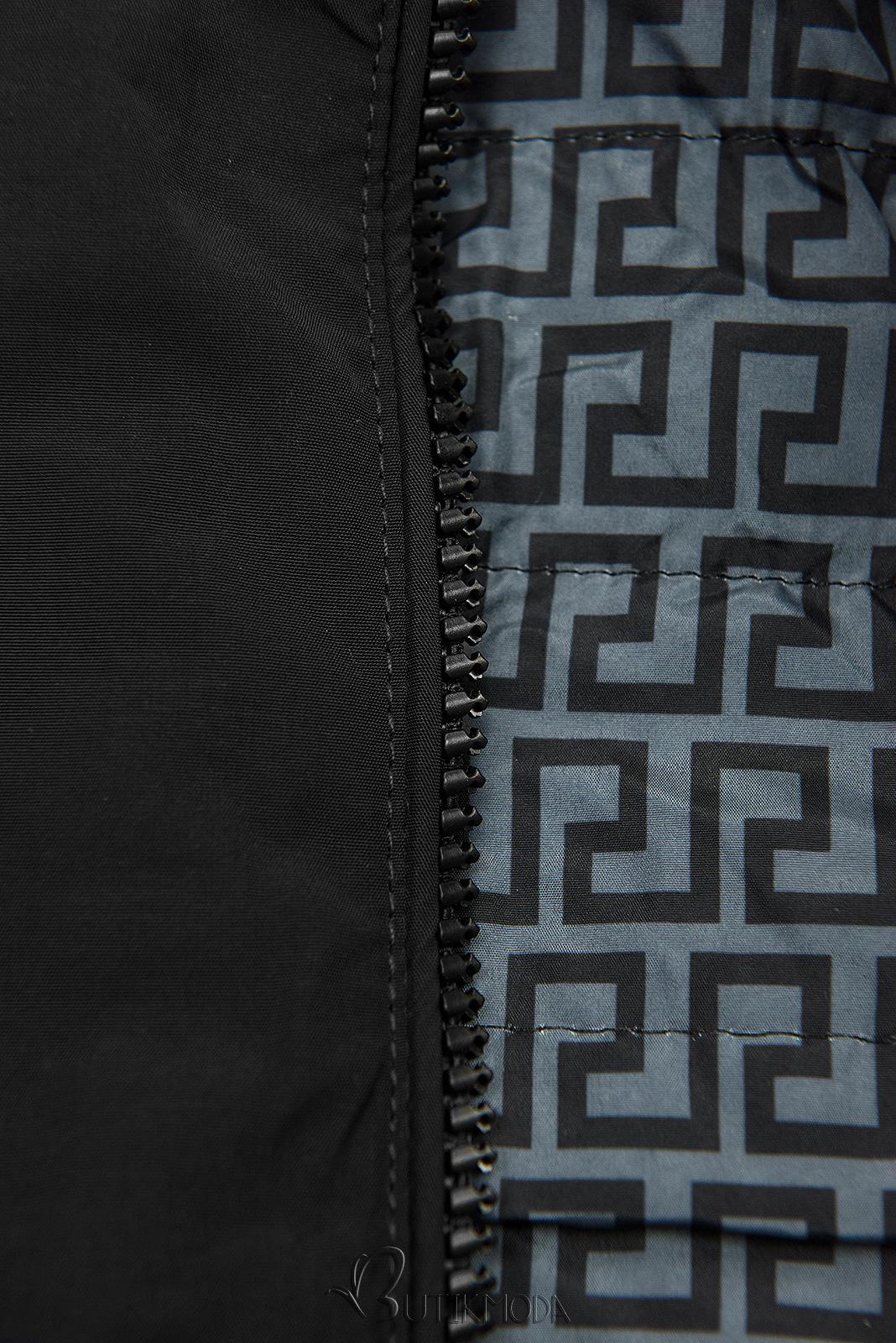 Leichter Parka schwarz/grau