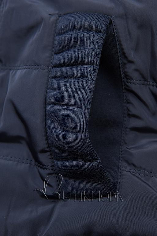 Sportliche Kapuzenjacke dunkelblau