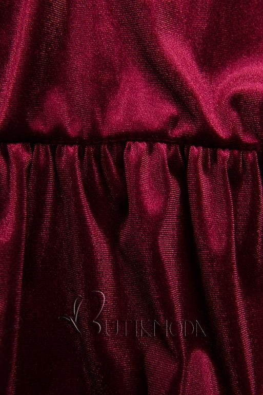 Kleid in Samt-Optik weinrot