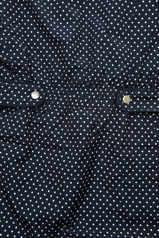 Wendejacke mit Kapuze und Pünktchen-Print dunkelblau/babyblau