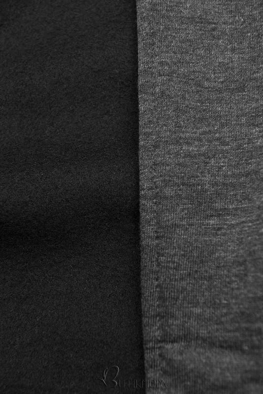 Kapuzensweatjacke in langer Form anthrazit
