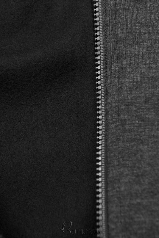 Sweatshirtjacke mit Stehkragen anthrazit