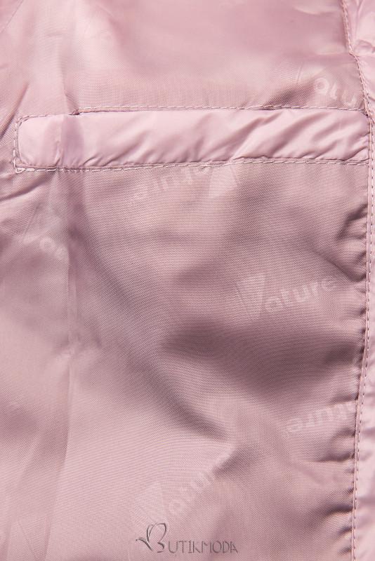 Leichte Übergangsjacke mit Kapuze rosa