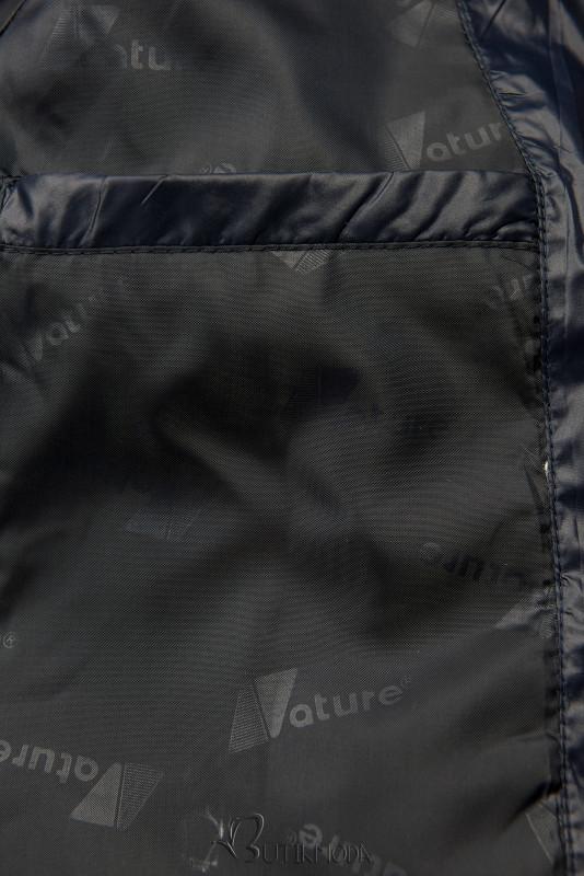 Leichte Übergangsjacke mit Kapuze dunkelblau