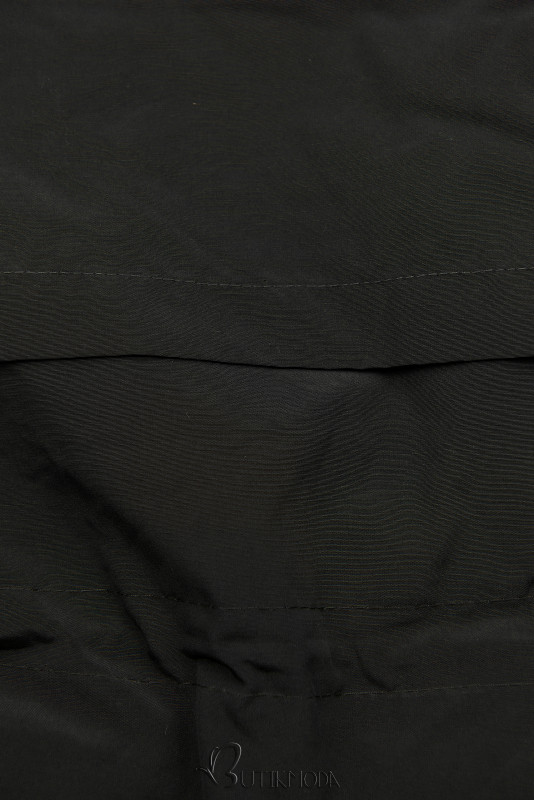 Winterparka mit Futter-Plüsch schwarz