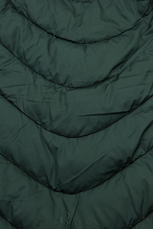 Winterjacke mit warmes Futter-Plüsch grün