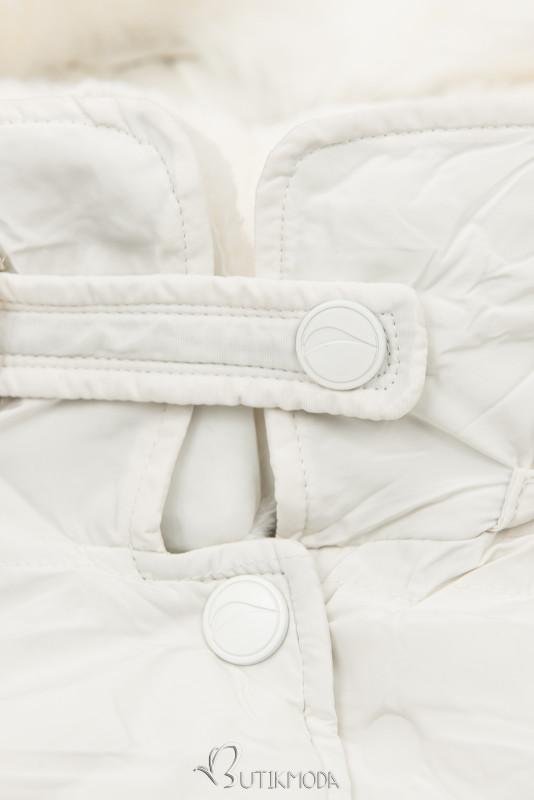 Winterjacke mit hohem Stehkragen reinweiß