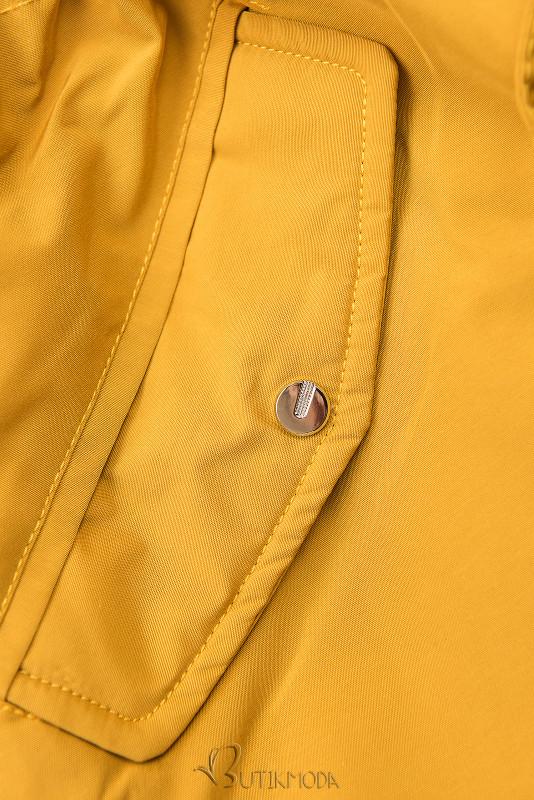 Parkajacke mit Wendemöglichkeit gelb