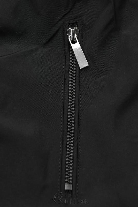 Parkajacke mit Wendemöglichkeit schwarz/braun