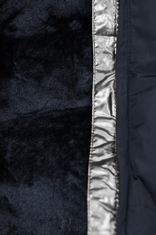 Steppmantel mit Kapuze von LHD dunkelblau