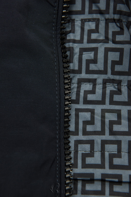 Leichter Parka dunkelblau/grau