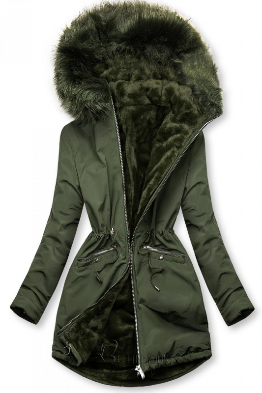 Winterjacke mit Wendemöglichkeit grün