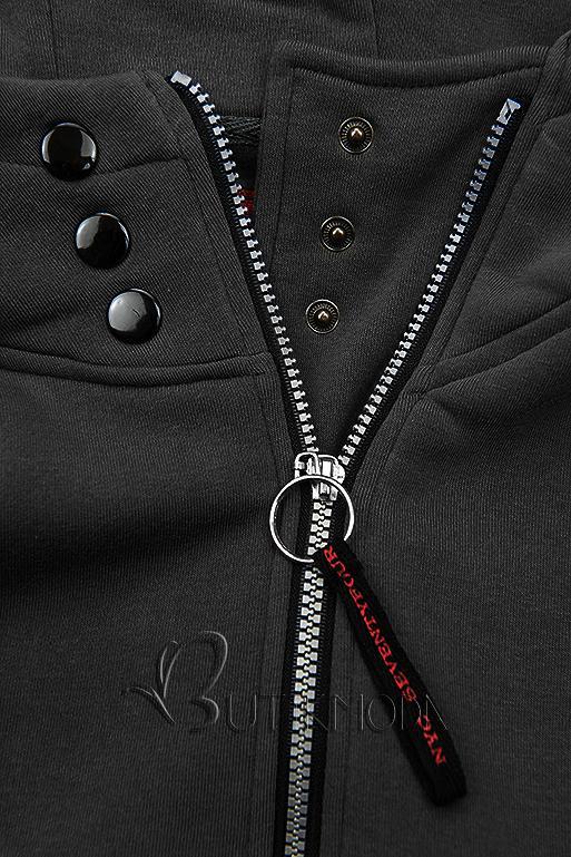 Sweatjacke mit Kapuze, Basic-Style schwarz