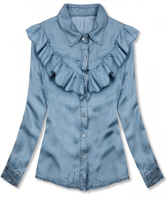 Weiches Hemd aus Lyocell hellblau