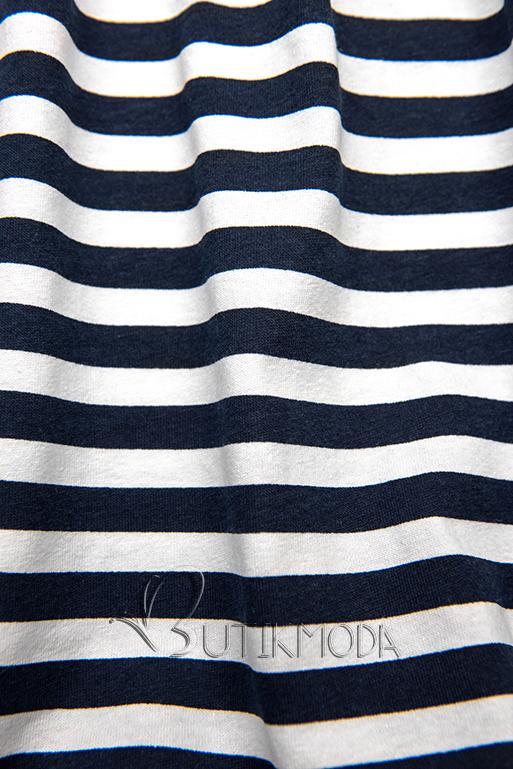 Sommerkleid mit Volants blau/weiß II.