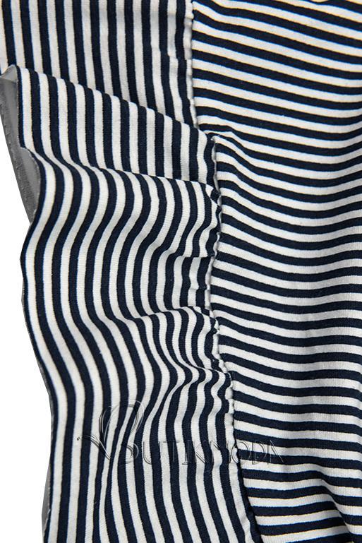 Sommerkleid mit Volants blau/weiß IV.