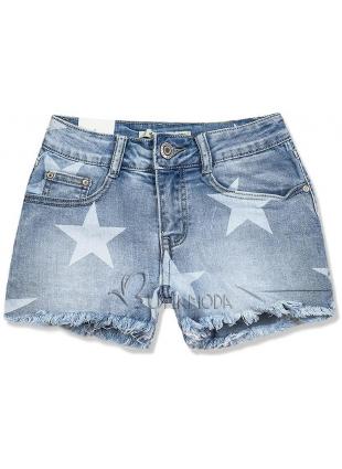 Jeans Shorts mit Sternprint
