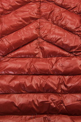 Jacke mit Gürtel ziegelbraun/beige