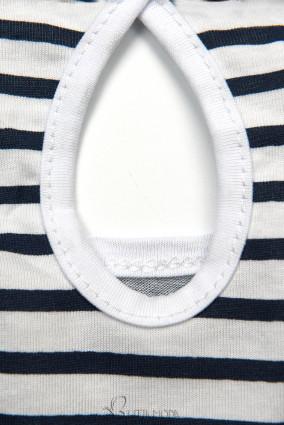 Freizeitkleid blau/weiß III.