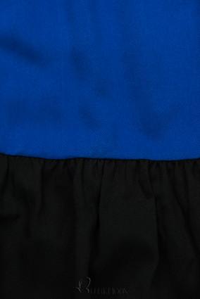 Kleid mit Color-Blocking-Optik blau/schwarz