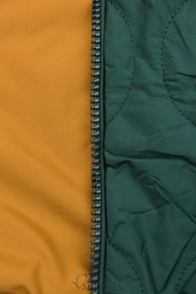 Parkajacke in gesteppter Optik grün/karamell