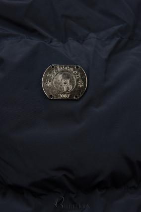 Winterjacke mit kuscheliger Teddy Fleece dunkelblau