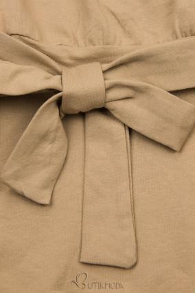 Kleid mit Schleife beige