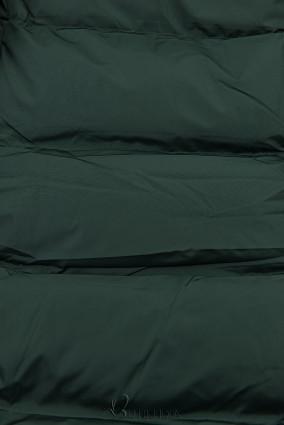Steppmantel mit Kapuze von LHD grün