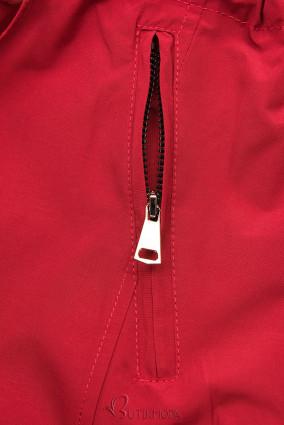 Leichter Parka rot/grau