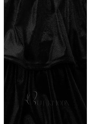 Kleid in Samt-Optik schwarz