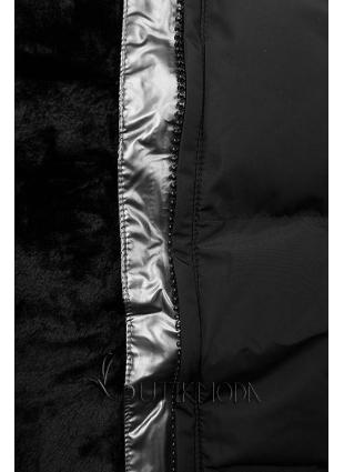 Steppmantel mit Kapuze von LHD schwarz
