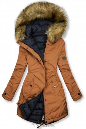 Jacke auf beiden Seiten tragbar braun/dunkelblau
