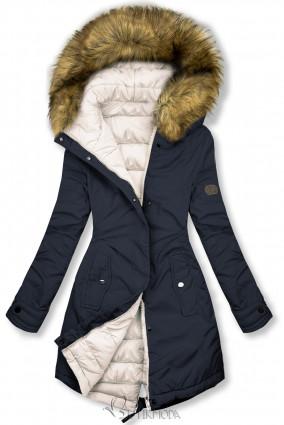 Jacke auf beiden Seiten tragbar dunkelblau/ecru