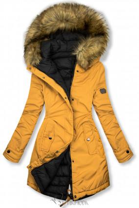 Jacke auf beiden Seiten tragbar gelb/schwarz