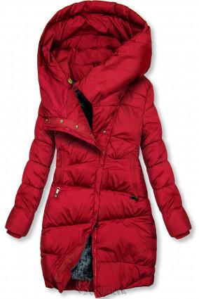 Winterjacke mit hohem Kragen rot