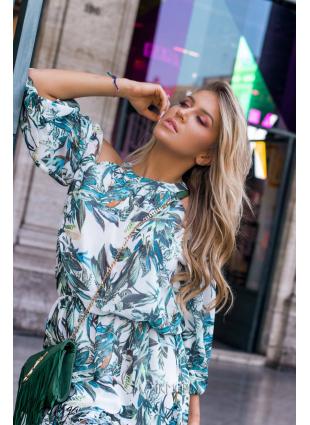 Minikleid Laura blau-grün/O'la Voga
