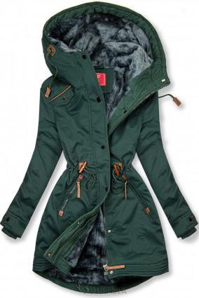 Parka LHD mit kuscheligem Fleece grün